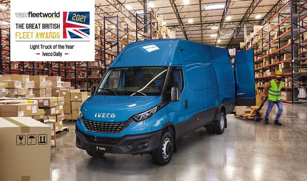 IVECO Daily wybrany Lekkim Samochodem Ciężarowym Roku 2021