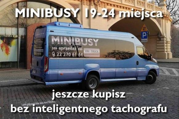 Minibusy Iveco  do 24 miejsc jeszcze dostępne bez inteligentnego tachografu